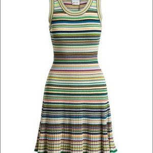 Milly Micro Striped Flair Dress size M